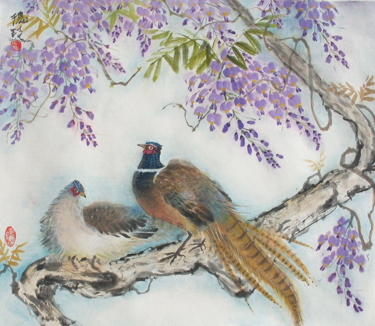"""Darlene Kaplan Imbues Her Oriental Brush Paintings, Workshops And Tea Tastings With """"Chi"""""""