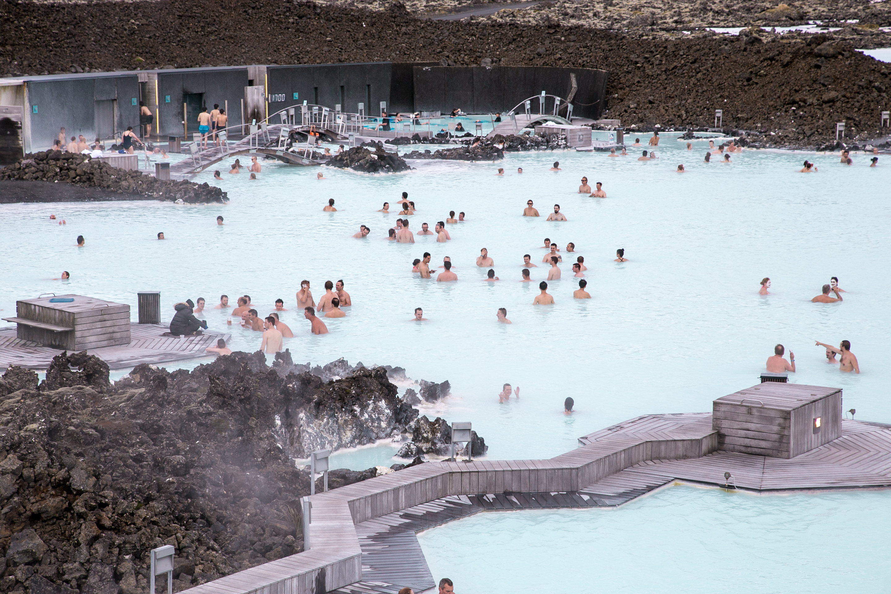 A Dip in Iceland's Blue Lagoon