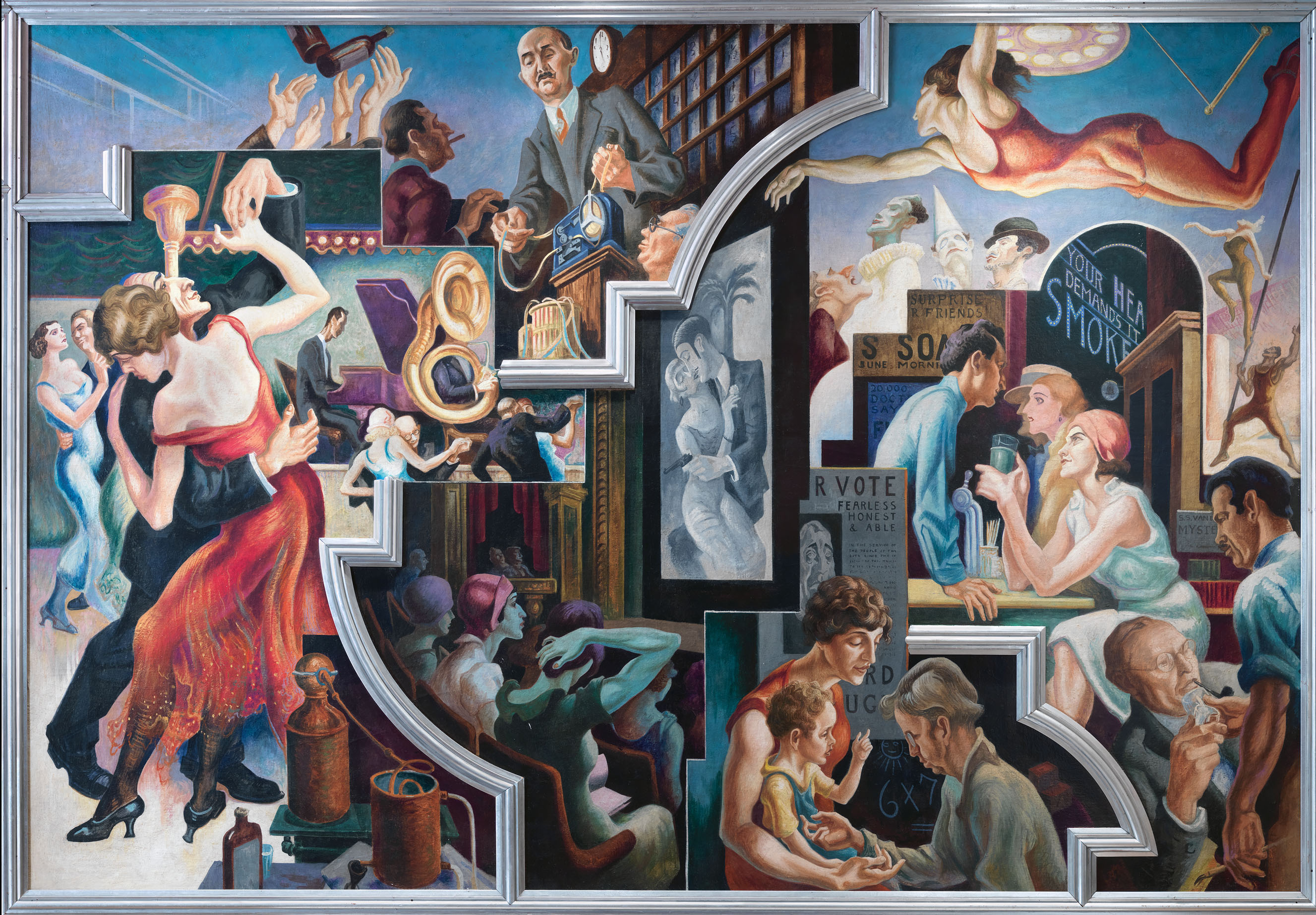 "Thomas Hart Benton's ""America Today"" Mural - Luxe Beat ... America Today"