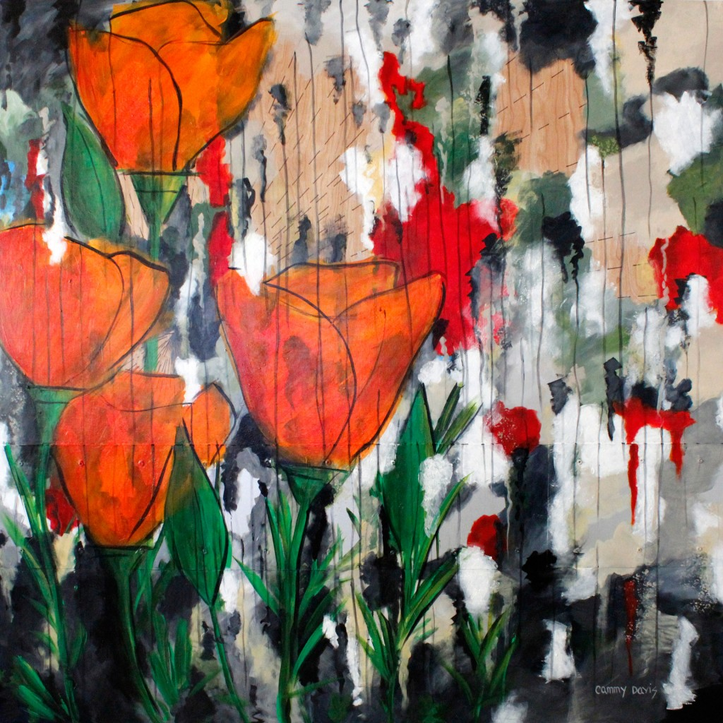 Orange Poppies By Cammy Davis