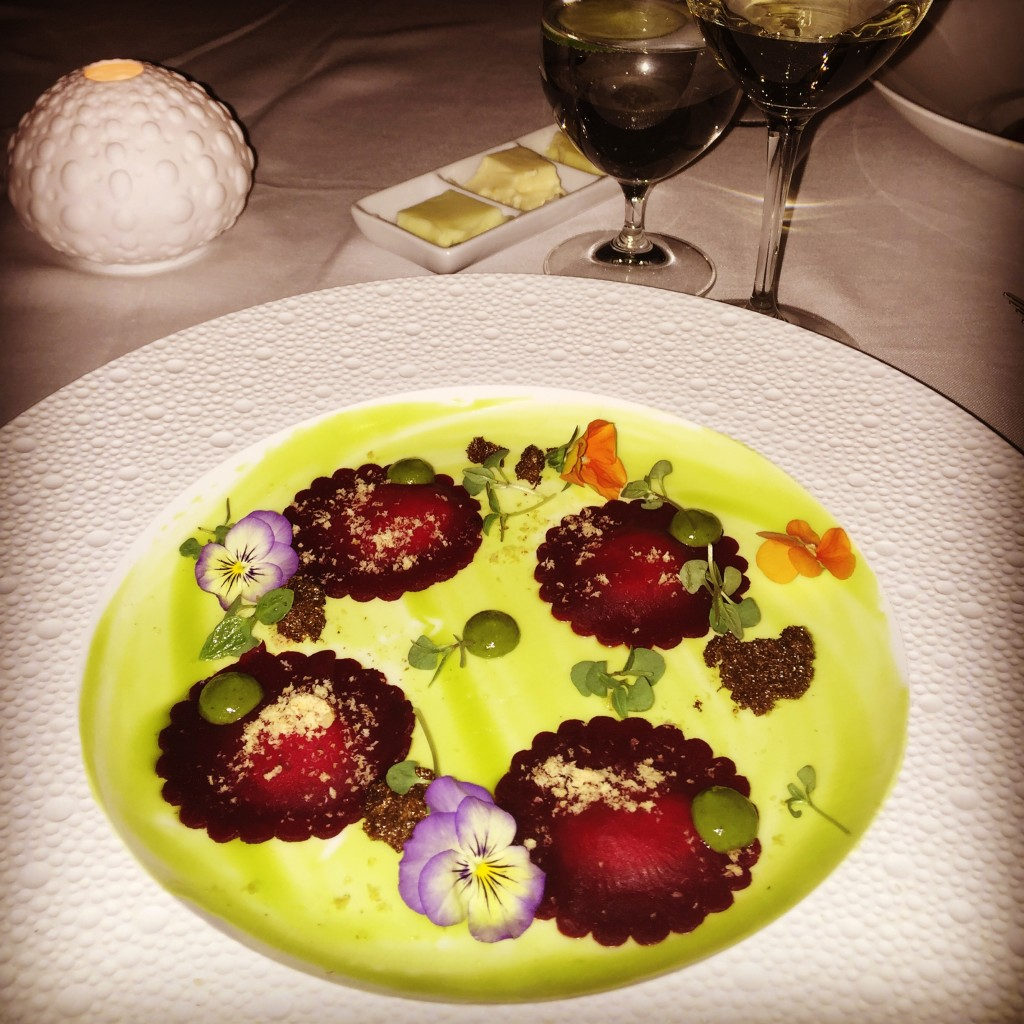 Beet and Goat Cheese Ravioli - Photo by Jill Weinlein