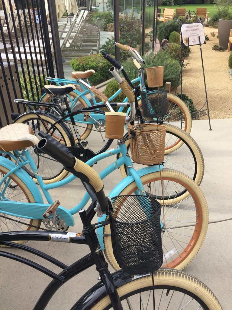 Take a complimentary bike for a ride into town - Photo by Jill Weinlein