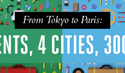 From Tokyo to Paris: 4 Continents, 4 cities, 300 objects