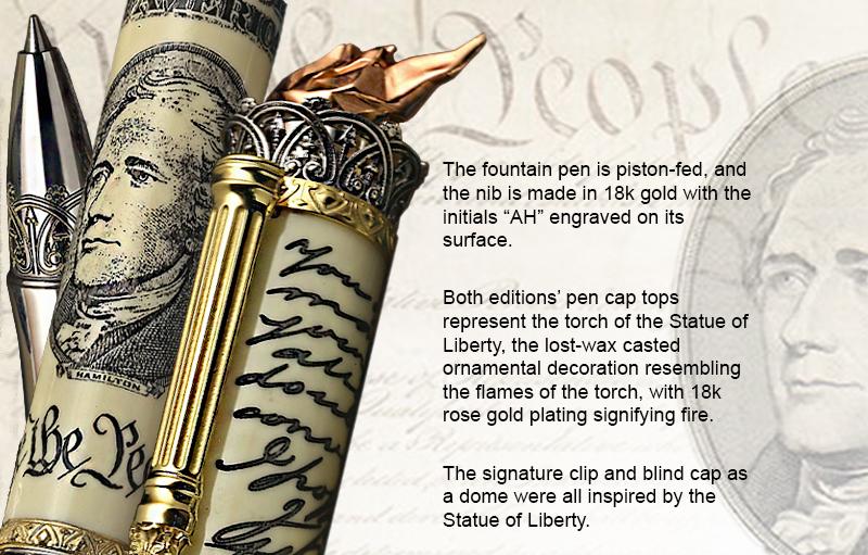 Alexander Hamilton limited edition writing instrument