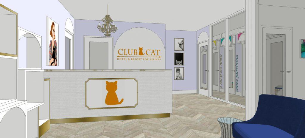 Club Luxury Cat-only Hotel lobby rendering