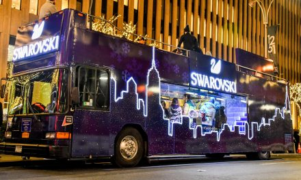 Celebrate The Season At The Swarovski Holiday Bus Located At New York City's Most Iconic Destinations
