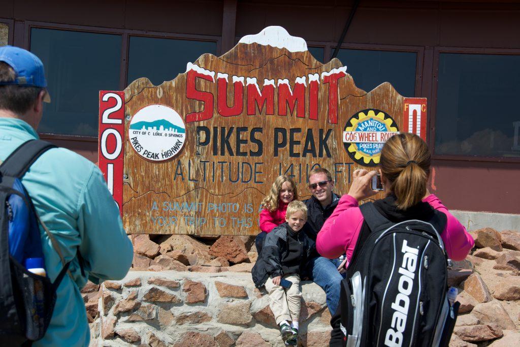 Pikes Peak Summit courtesy of Visit Colorado Springs