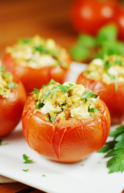 Feta Stuffed Tomatoes recipe
